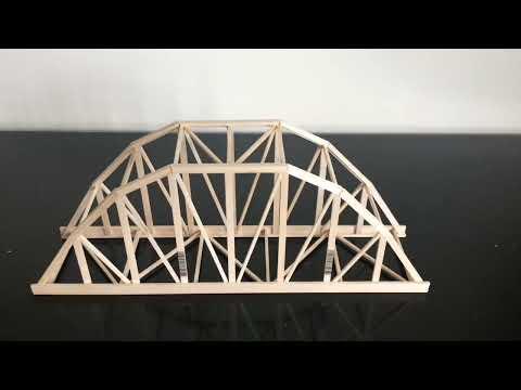 Balsa Wood Parker Truss Bridge | Construction Time Lapse