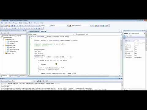 Implementing Web Server Application using C++
