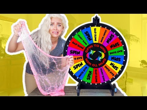 Mystery Wheel of Slime! SPIN WHEEL CHALLENGE GAME!