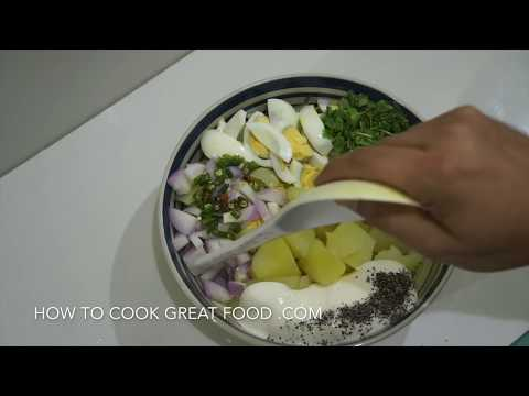 Potato Egg Mayo Spicy Salad Recipe