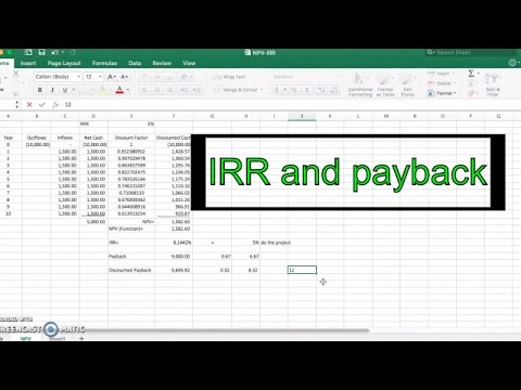 IRR and Payback Period