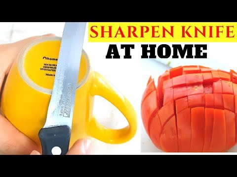 Sharpen Knife at Home in 2 mins! How to Sharpen Kitchen Knife at Home with Tips!!