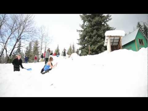 Backflip Fail on Skis