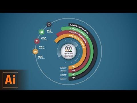 Circular Business Infographics Vector Illustrator Tutorial