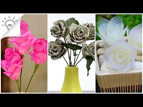 4 Ways to Make Flowers - Easy Craft!