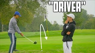Guy Who Has Never Played Golf Caddies For Me - Challenge   GM GOLF