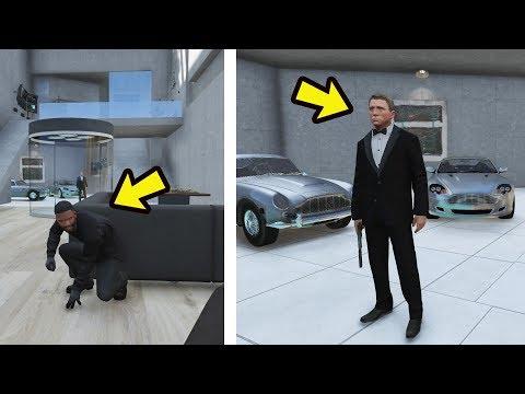 Encontrei o esconderijo secreto do 007 James Bond em los santos! GTA 5