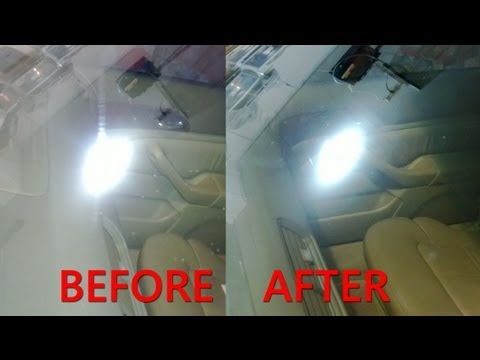 Permanent Windshield Scratch Removal / Repair with Cerium Oxide
