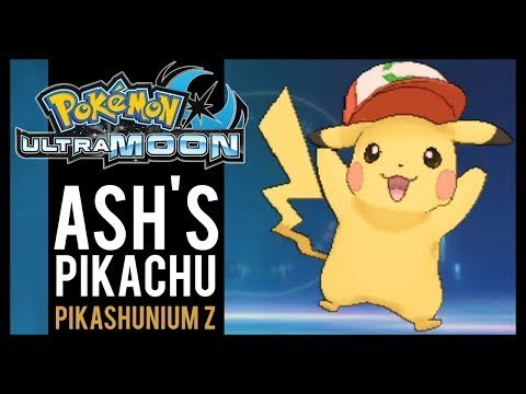 Pokemon Ultra Sun And Ultra Moon - Where To Find Ash's Pikachu And Pikashunium Z (3DS)