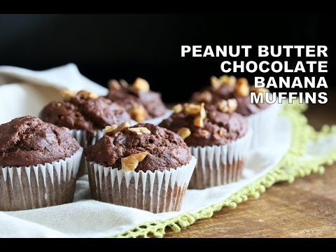 Peanut Butter Chocolate Banana Muffins 1 Bowl - VeganRicha.com