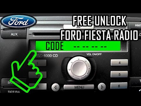 How To get UNLOCK Code for FREE - Ford Fiesta Radio