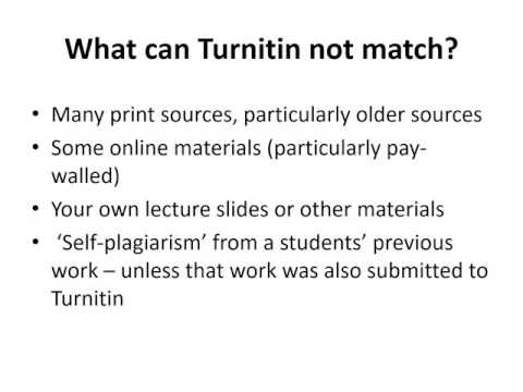 How to interpret the Turnitin originality report - Guidance for staff