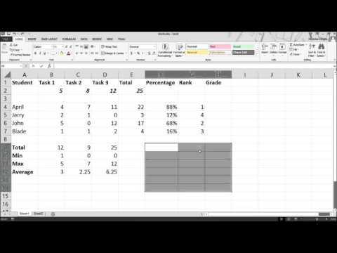 Microsoft Excel 2013 Tutorial - Functions: Rank, VLookup