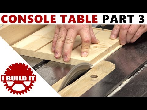 Making A Console / Accent Table - Part 3 - Free Woodworking Course