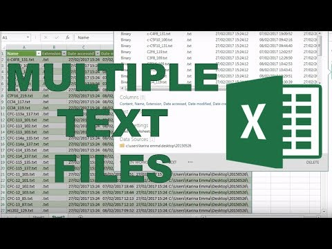 How to import multiple text files into excel?