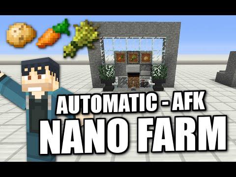 Minecraft PS4 -  AUTOMATIC WHEAT /POTATO/CARROT NANO FARM - AFK - Tutorial ( PS3 / XBOX / WII / PE )