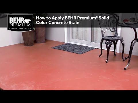 How To Properly Apply BEHR Premium® Solid Color Concrete Stain
