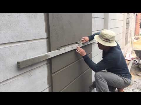 How to make a professional wall, using sand and cement ratio 1/11