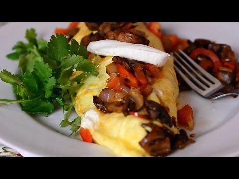How To Make an Omelet : Vegetable Omelet Recipe Video