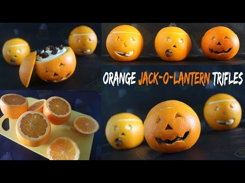 Orange Jack-O-Lantern Trifles!