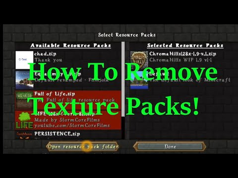 How to Remove a Resource Pack in Minecraft (Delete a Texture Pack)- Minecraft
