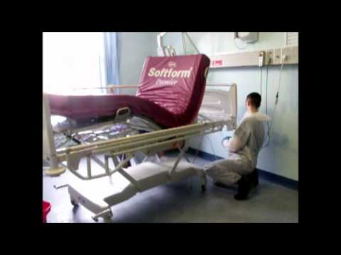How to clean a hospital bed.wmv