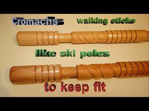 Cromach Scottish walking sticks like dry ski poles