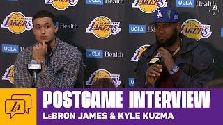 Lakers Postgame: LeBron James & Kyle Kuzma (3/10/20)
