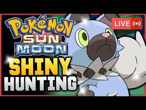 Pokémon Sun & Moon LIVE Shiny Hunting! Hunting For Shiny Rockruff! w/ HDvee