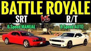 MANAUL Challenger SRT 6.1L vs AUTO Challenger RT 5.7L | STREET RACE!