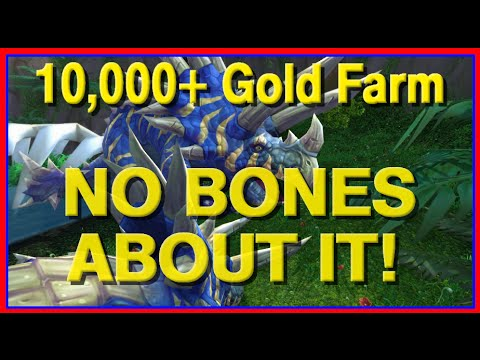 How to Make Gold in WoW - Giant Dinosaur Bone Farming