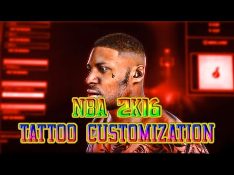 NBA 2K17 HOW TO PUT TATTOOS ON YOUR FACE!!! (2k16 gameplay)