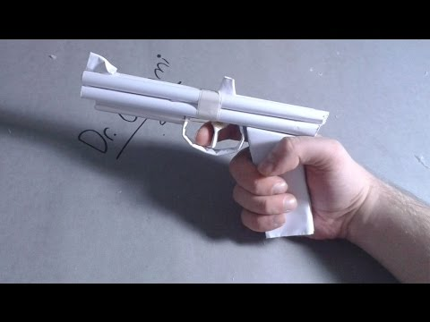 |DIY| How to make a paper gun that shoots-rubber bands-easy tutorial