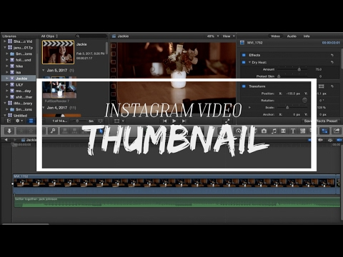 How to Create Instagram Video Thumbnails