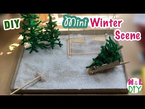 DIY Miniature Winter Scene | How to make miniature Winter Scene