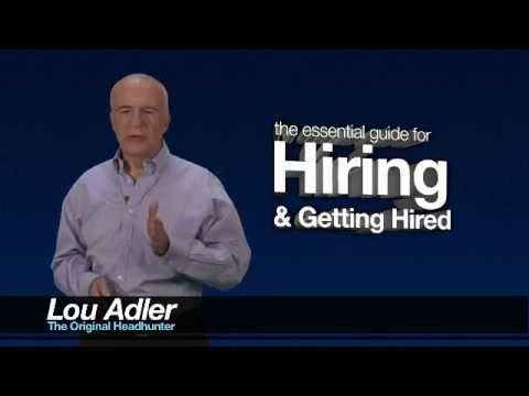 How to Get Your Next Job - Lou Adler Training Series - Introduction - Part 1
