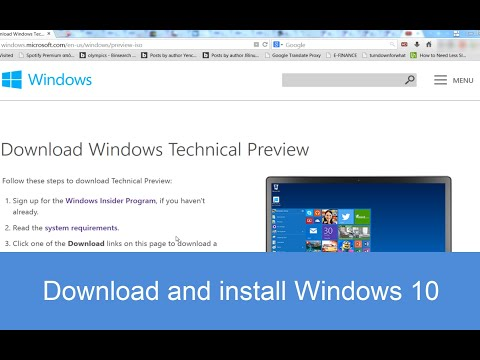 Download and install Windows 10 - Download Windows Technical Preview Free