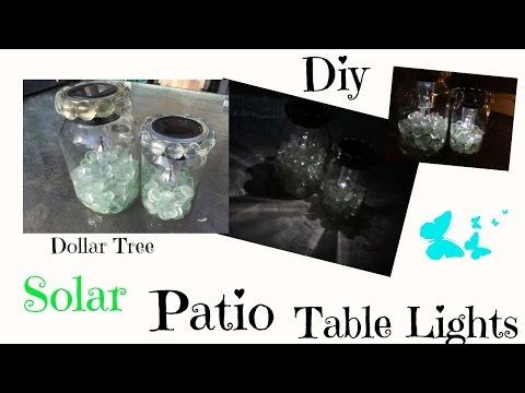 DIY DOLLAR TREE SOLAR PATIO TABLE LIGHTS