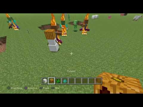 How to make a Creeper EXPLODE In creative mode updated version