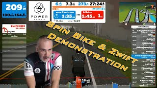 Spin Bike on Zwift Demonstration