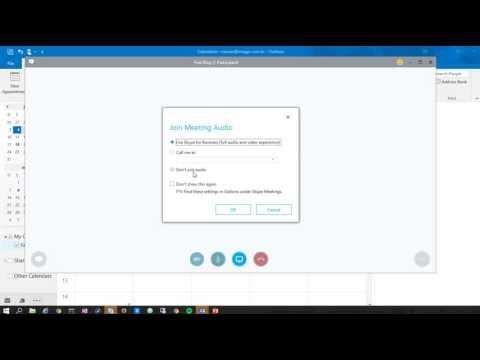 Agendando reuniões no Skype for Business através do Outlook