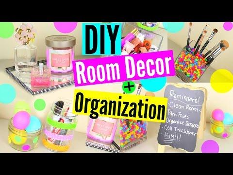 DIY Room Decor + Organization/Storage! Keep Your Room Organized!