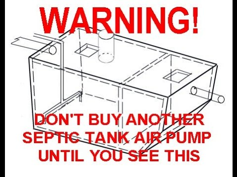 Warning About Septic Tank Aerators