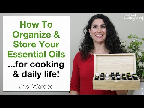 How To Organize & Store Essential Oils... For Cooking & Daily Life | #AskWardee 096
