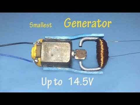 How to make a smallest generator , 14 V generator , Homemade Dynamo up to 14.5V