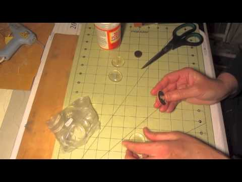 Glass Marble Floral Marble  Magnet Craft Tutorial
