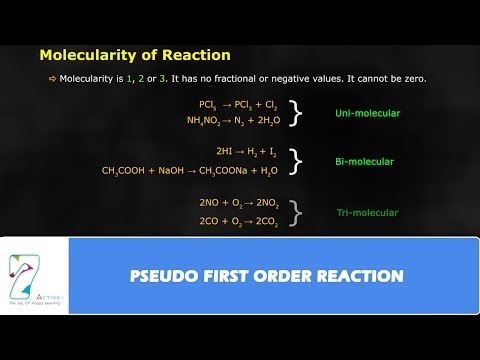 PSEUDO FIRST ORDER REACTION