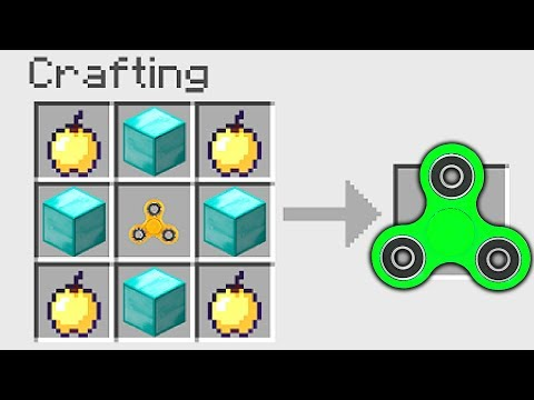 How To CRAFT the MOST EXPENSIVE FIDGET SPINNER in MINECRAFT!
