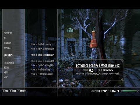 Skyrim Restoration Potion Glitch Tutorial