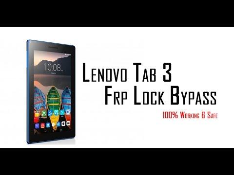 Lenovo Tab 3 Frp Lock Bypass 100% Working Solution   Lenovo TB3-710i